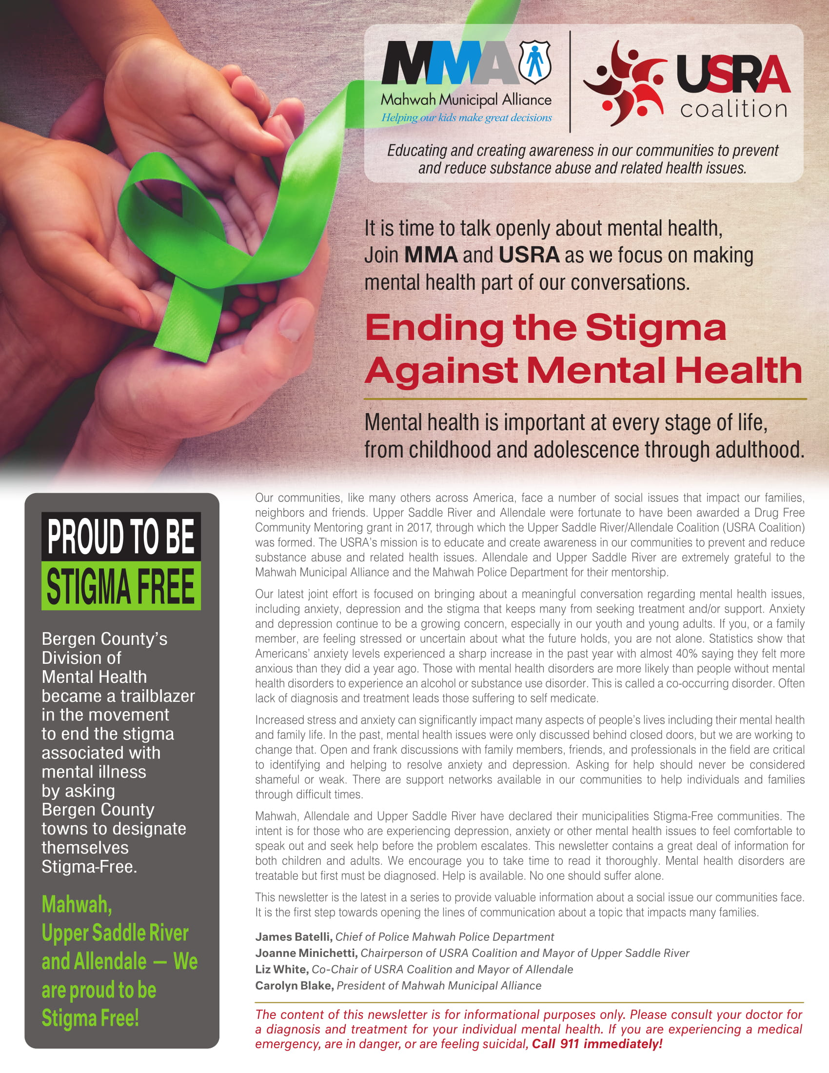 USRA Coalition Ending the Stigma